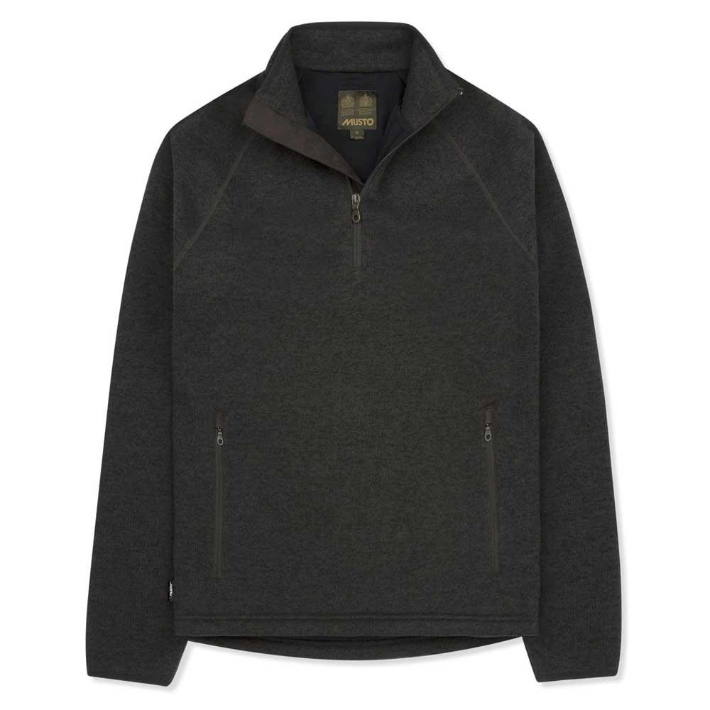 musto-super-warm-polartec-windjammer-half-zip-fleece-xl-liquorice