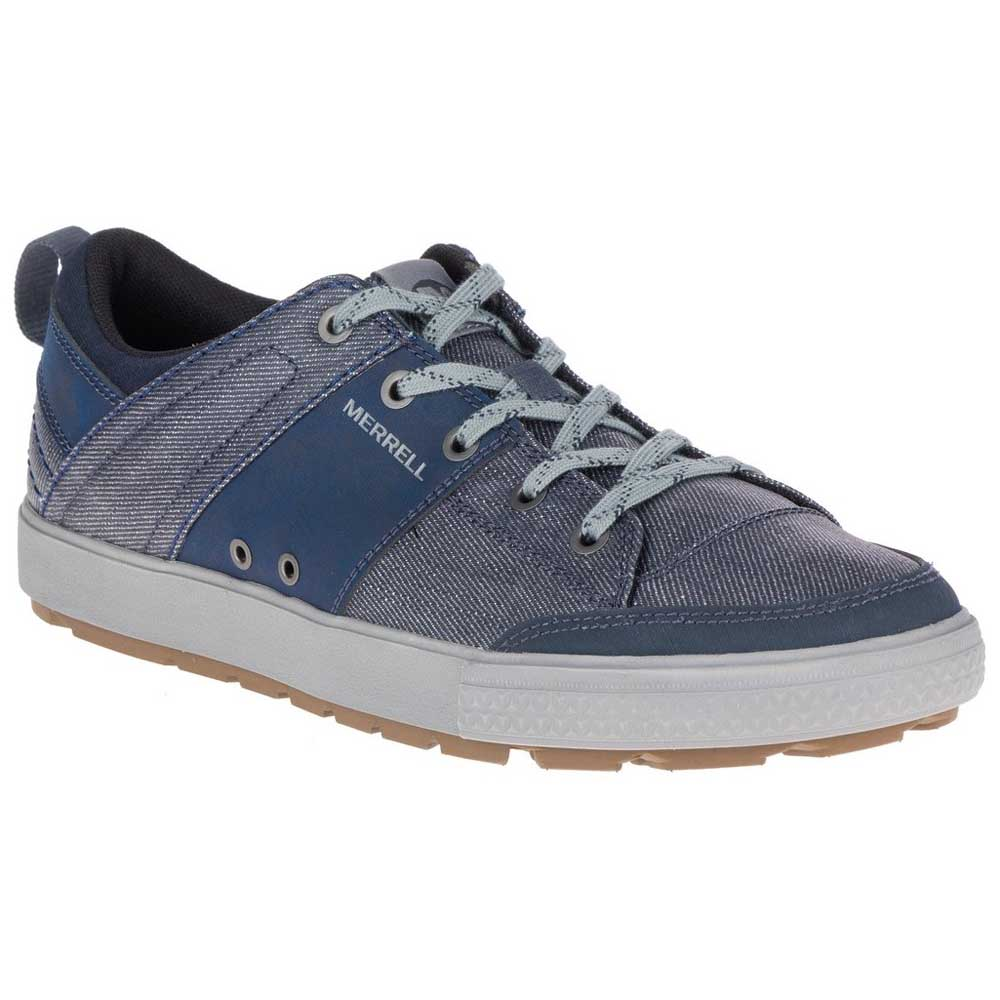 Casual salvaje Merrell Rant Discovery Lace Canvas, Azul Male