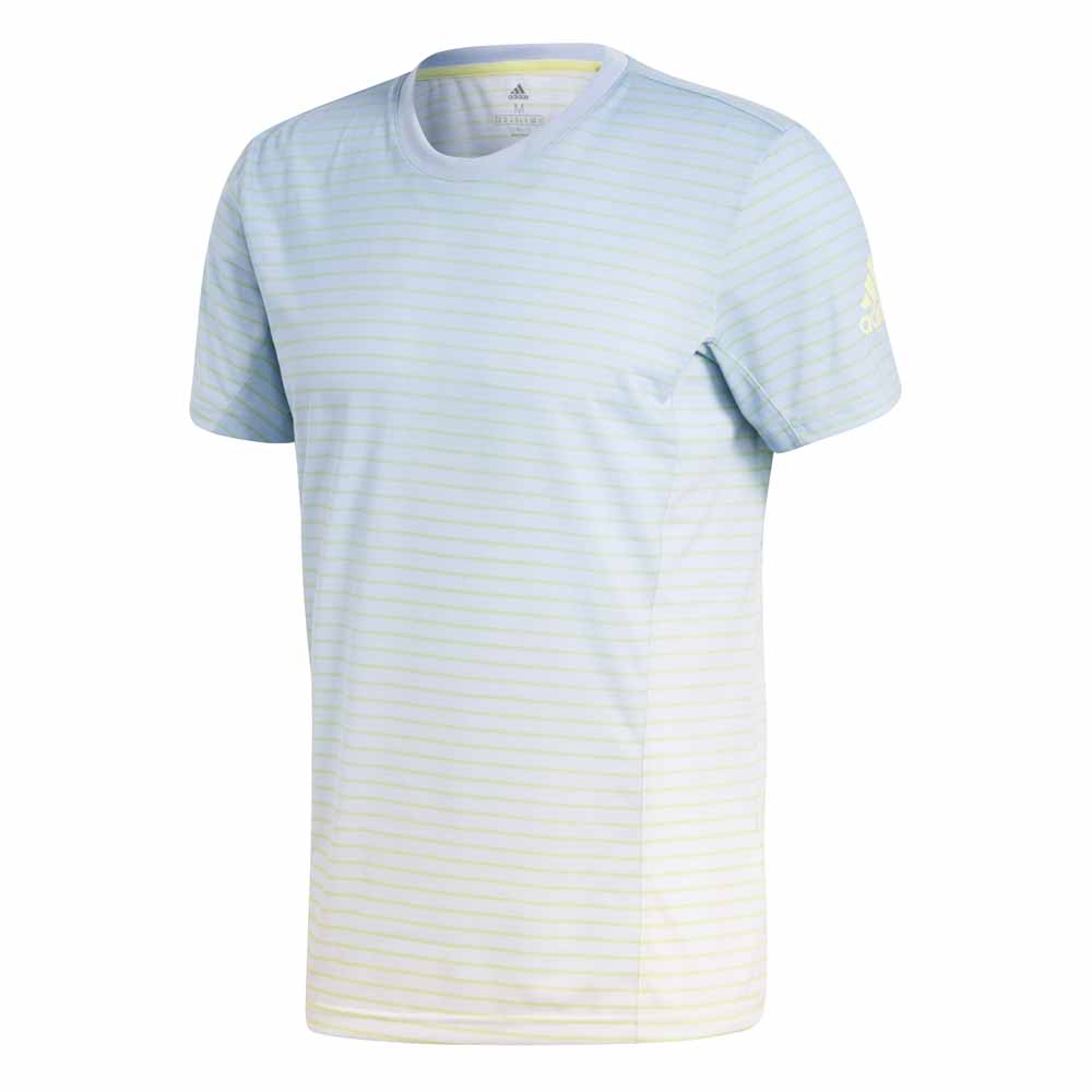 Adidas T-shirt Manche Courte Melbourne Striped S Ash Blue / White