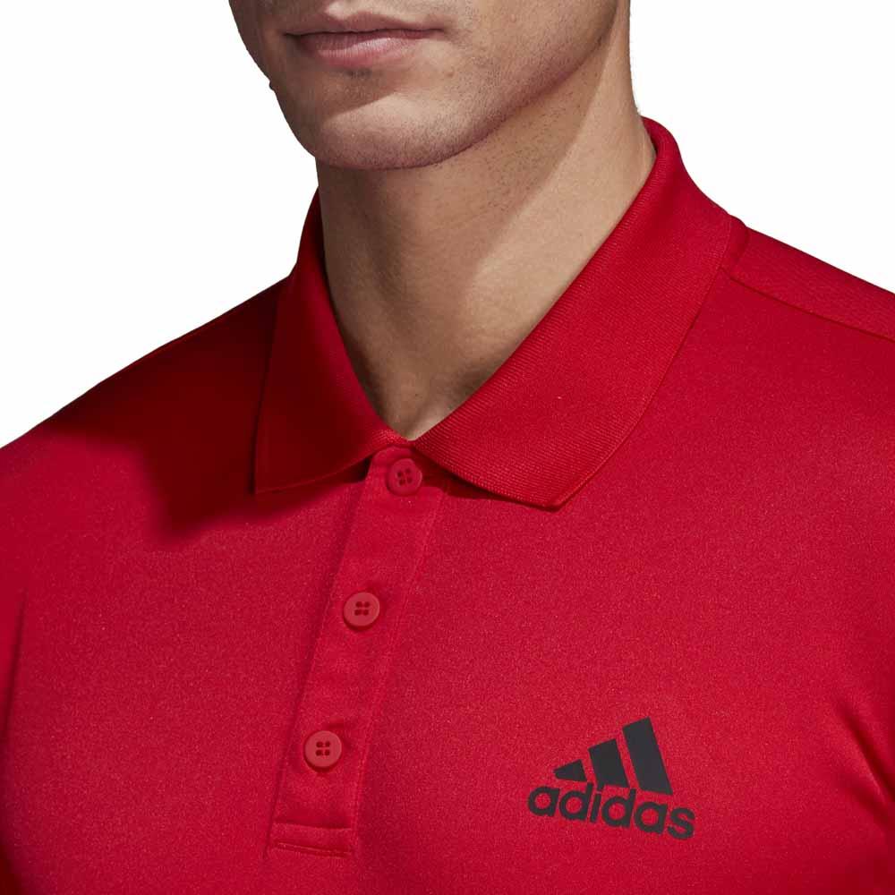 Abbigliamento Club Adidas Scarlet Polo 3 Tennis Stripes Uomo dYqTYr