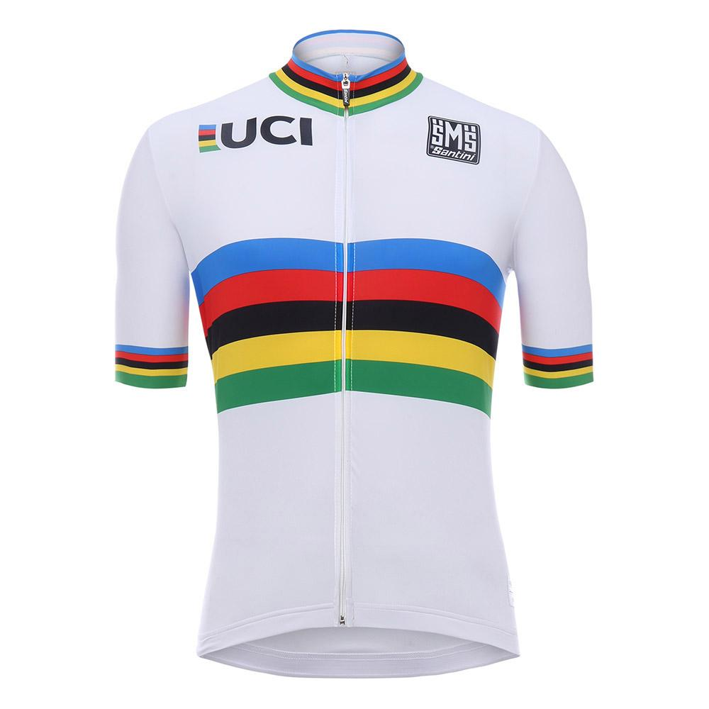 Santini Uci World Champion Jersey XXXXL White
