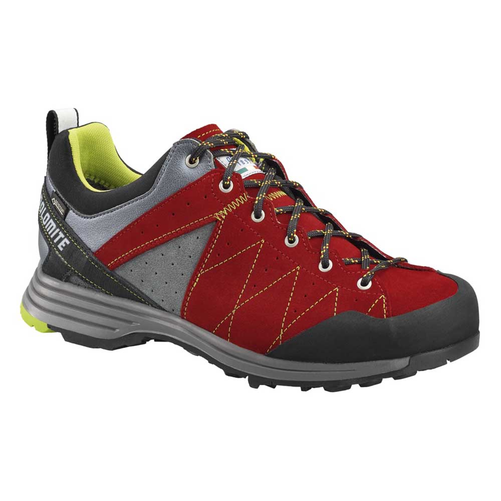 Dolomite Steinblock Low Goretex 2.0 EU 44 Fiery Red / Green Shoot