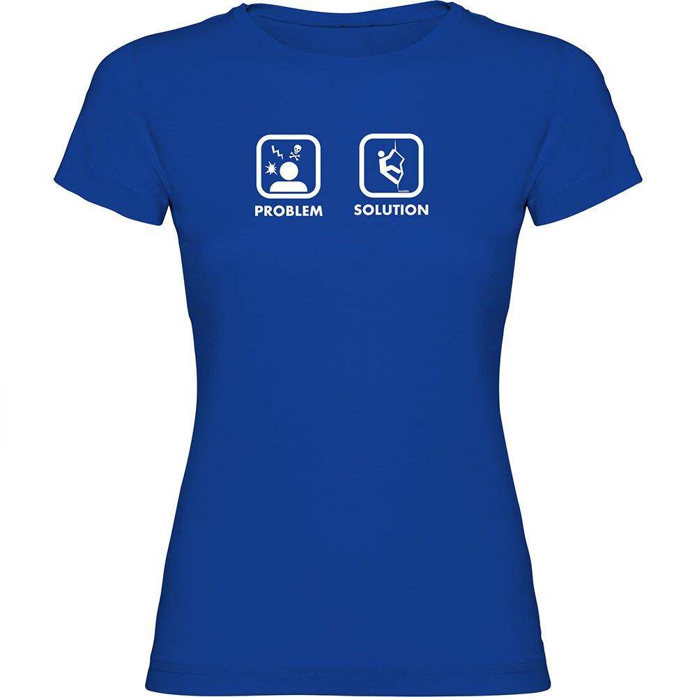 Kruskis T-shirt Manche Courte Problem Solution Climb Short Sleeve T-shirt S Royal Blue