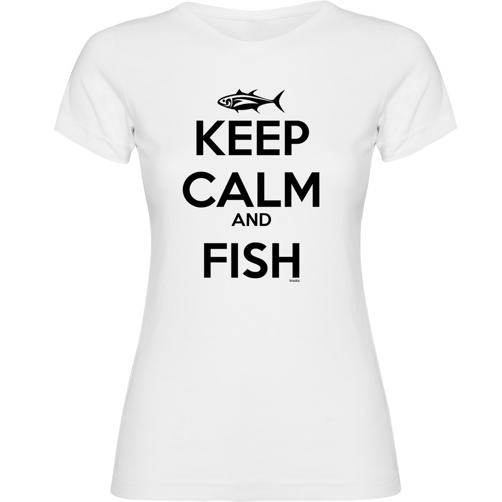 kruskis-keep-calm-and-fish-woman-s-white