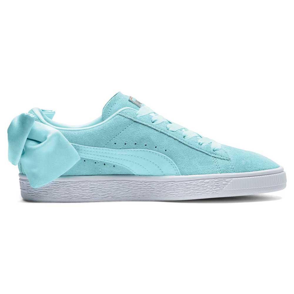 Dettagli su Puma Select Suede Bow Blu T90182 Sneakers Donna Blu , Sneakers Puma select