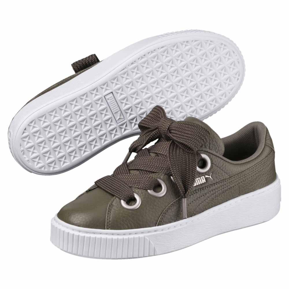 Puma Platform Kiss Lea Sneaker für Damen Grün