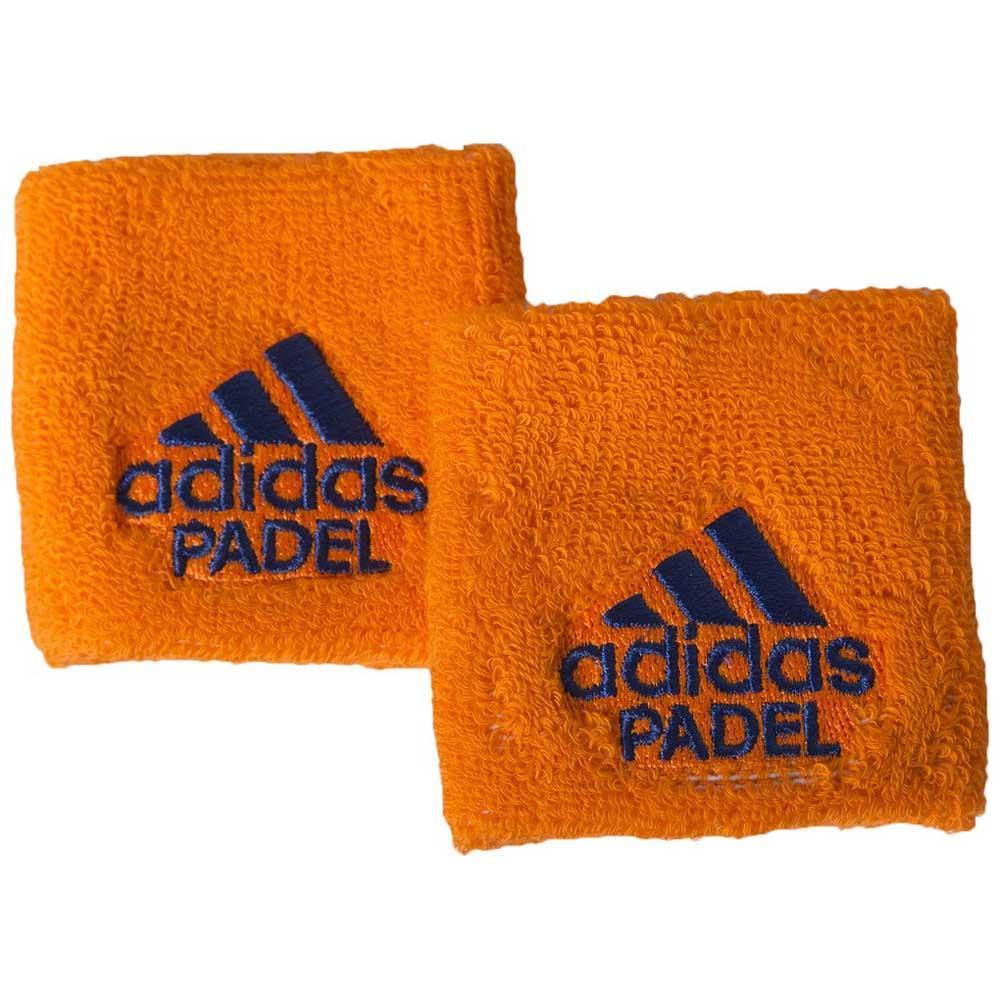 Adidas Padel Wristband S 2 Units One Size Orange / Blue