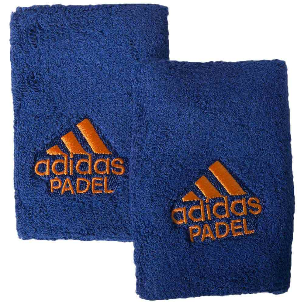 Adidas Padel Wristband L 2 Units One Size Blue / Orange