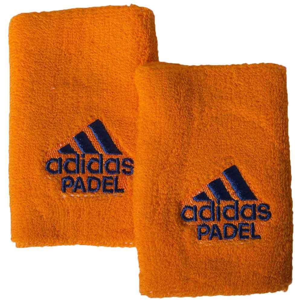 Adidas Padel Wristband L 2 Units One Size Orange / Blue