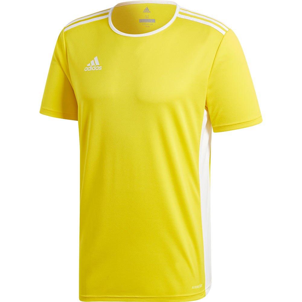 Customer Favorite Adidas Entrada 18 Short Sleeve T-shirt XL Yellow ...