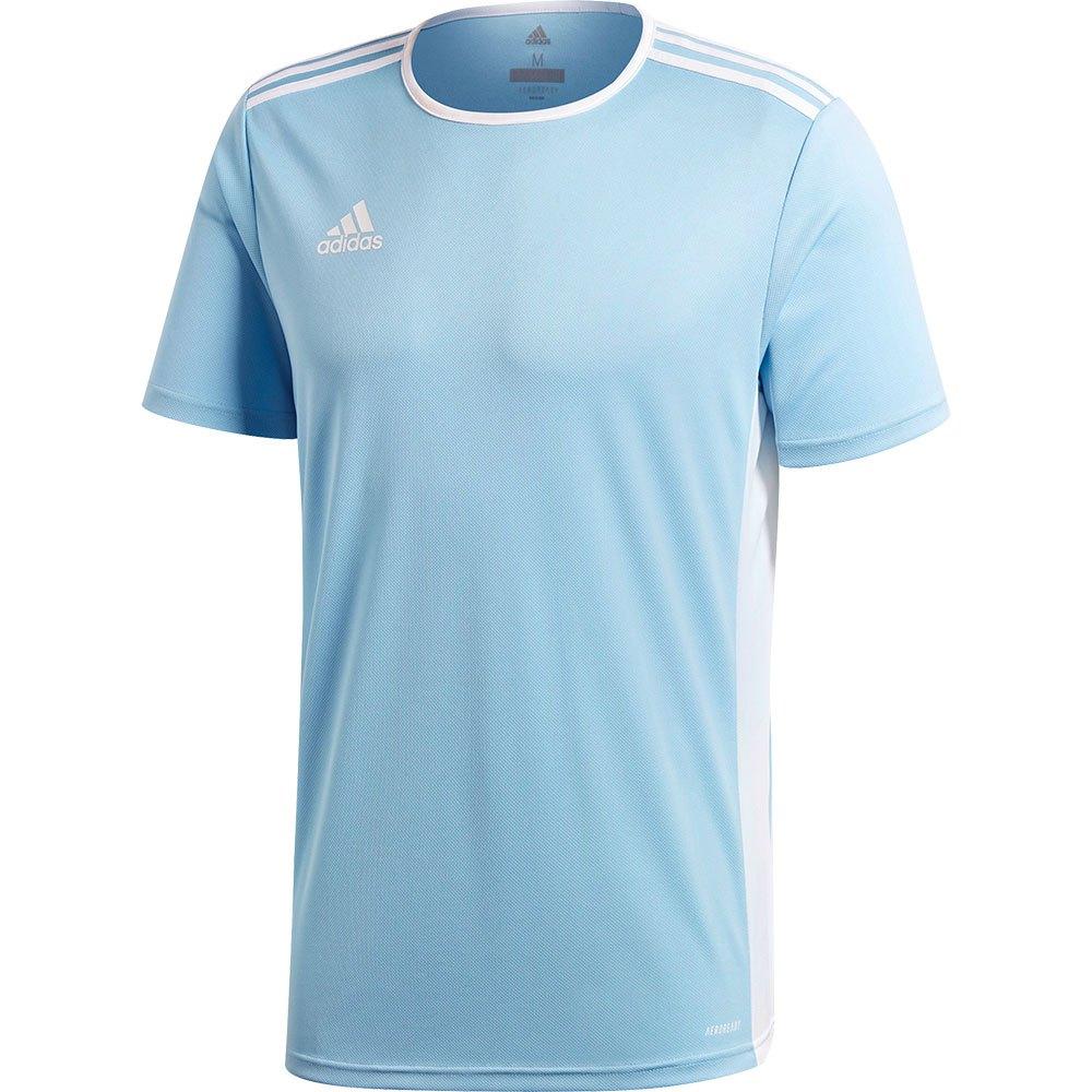 Adidas T-shirt Manche Courte Entrada 18 S Clear Blue