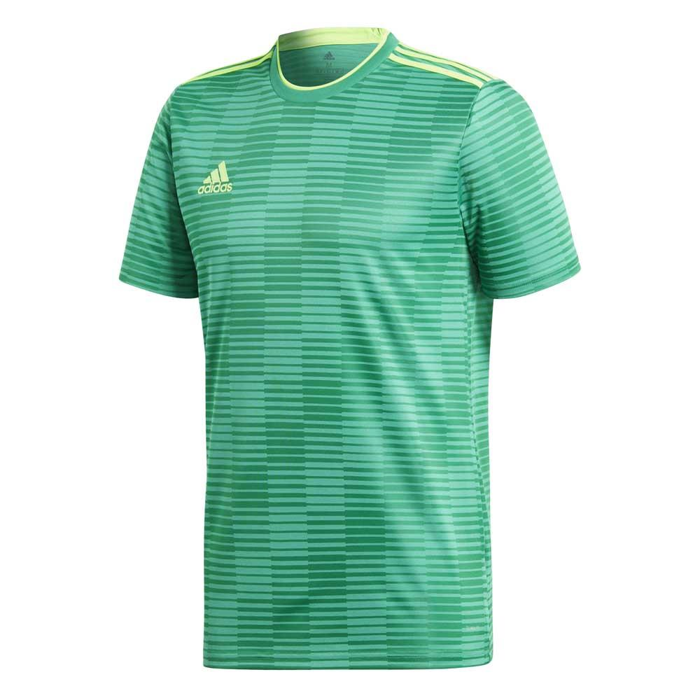 Adidas Condivo 18 Short Sleeve T-shirt S Bold Green / Solar Green