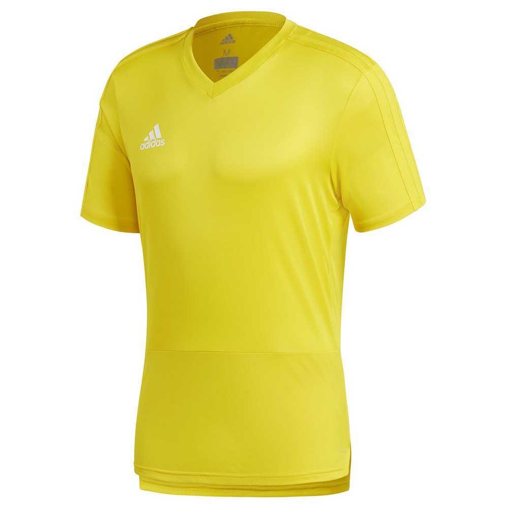 Adidas T-shirt Manche Courte Condivo 18 Training M Yellow / White