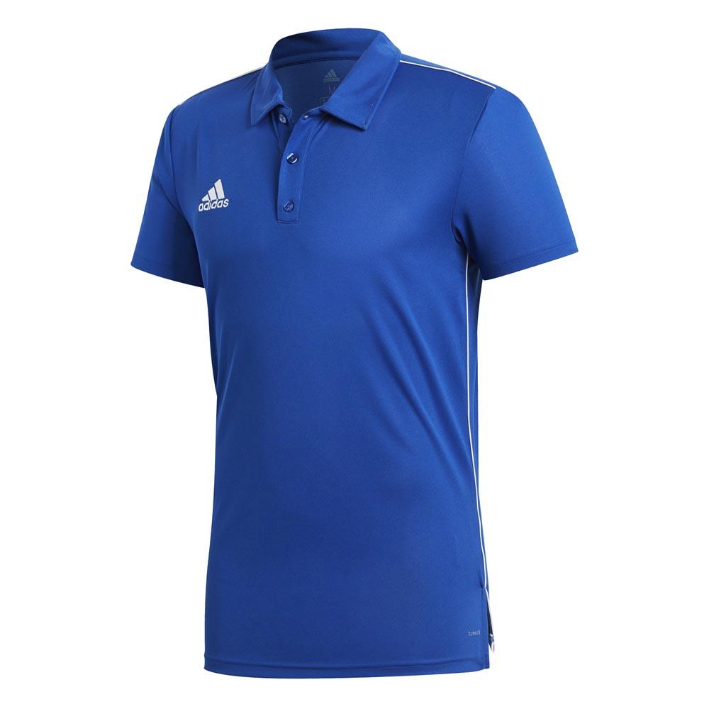 Adidas Polo Manche Courte Core 18 Climalite S Bold Blue / White