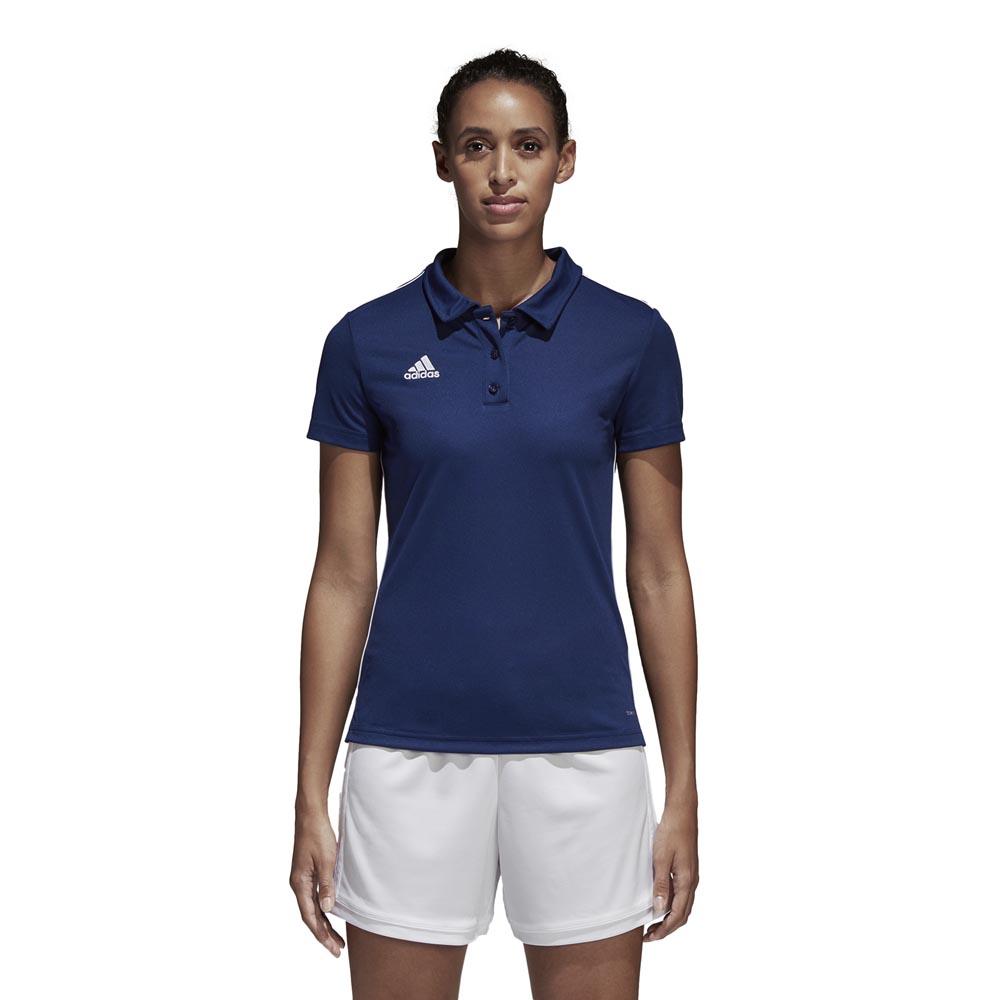 Adidas Polo Manche Courte Core 18 Climalite XL Dark Blue / White