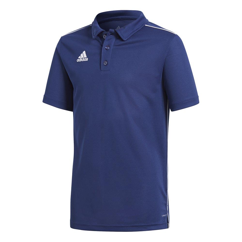 Adidas Polo Manche Courte Core 18 Climalite 164 cm Dark Blue / White