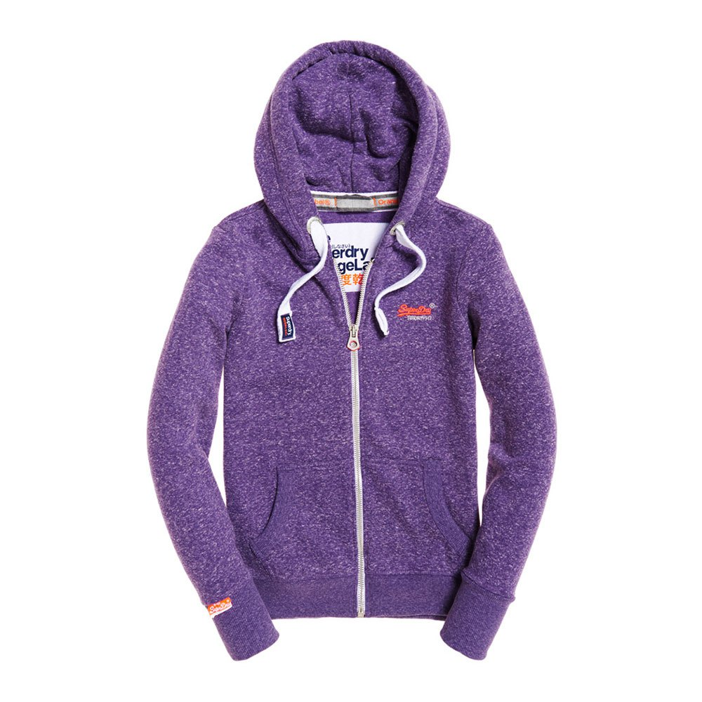 Orange Felpe Purple Snowy Superdry Zip Label Hood Gumball Primary d87wTFgq
