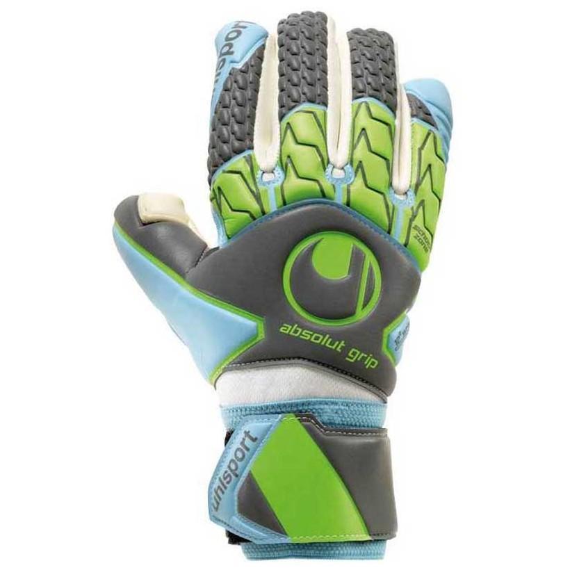 Uhlsport Absolutgrip Tight Hn 5 Dark Grey / Cyan / Fluo Green