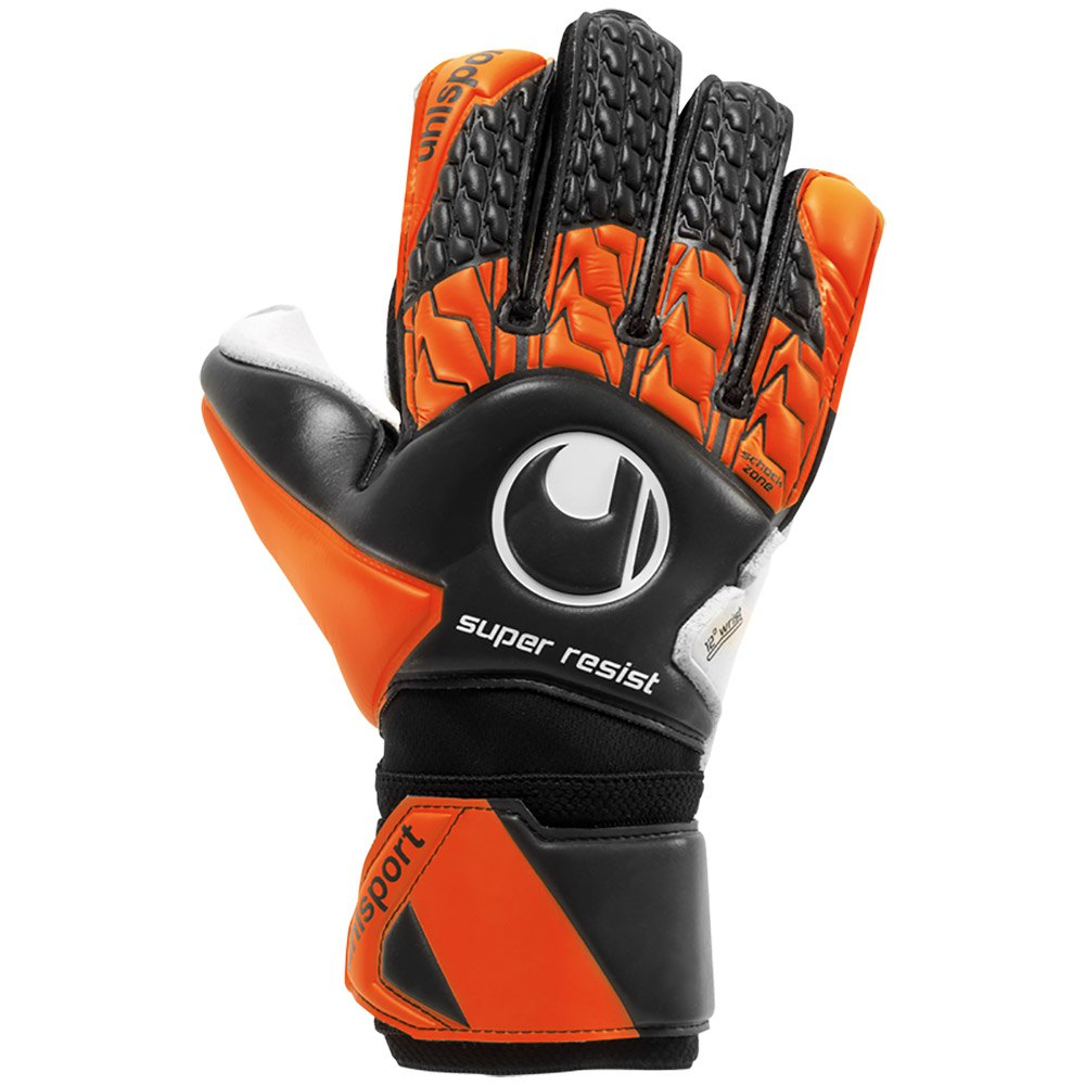 Uhlsport Super Resist 7 1/2 Black / Fluo Orange / White