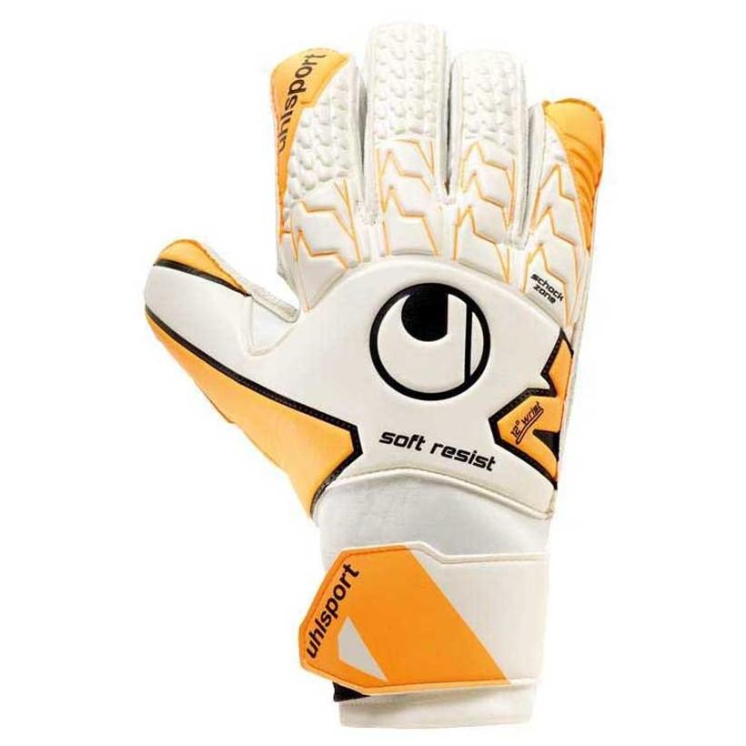 Uhlsport Gants Gardien Soft Resist 7 White / Fluo Orange / Black