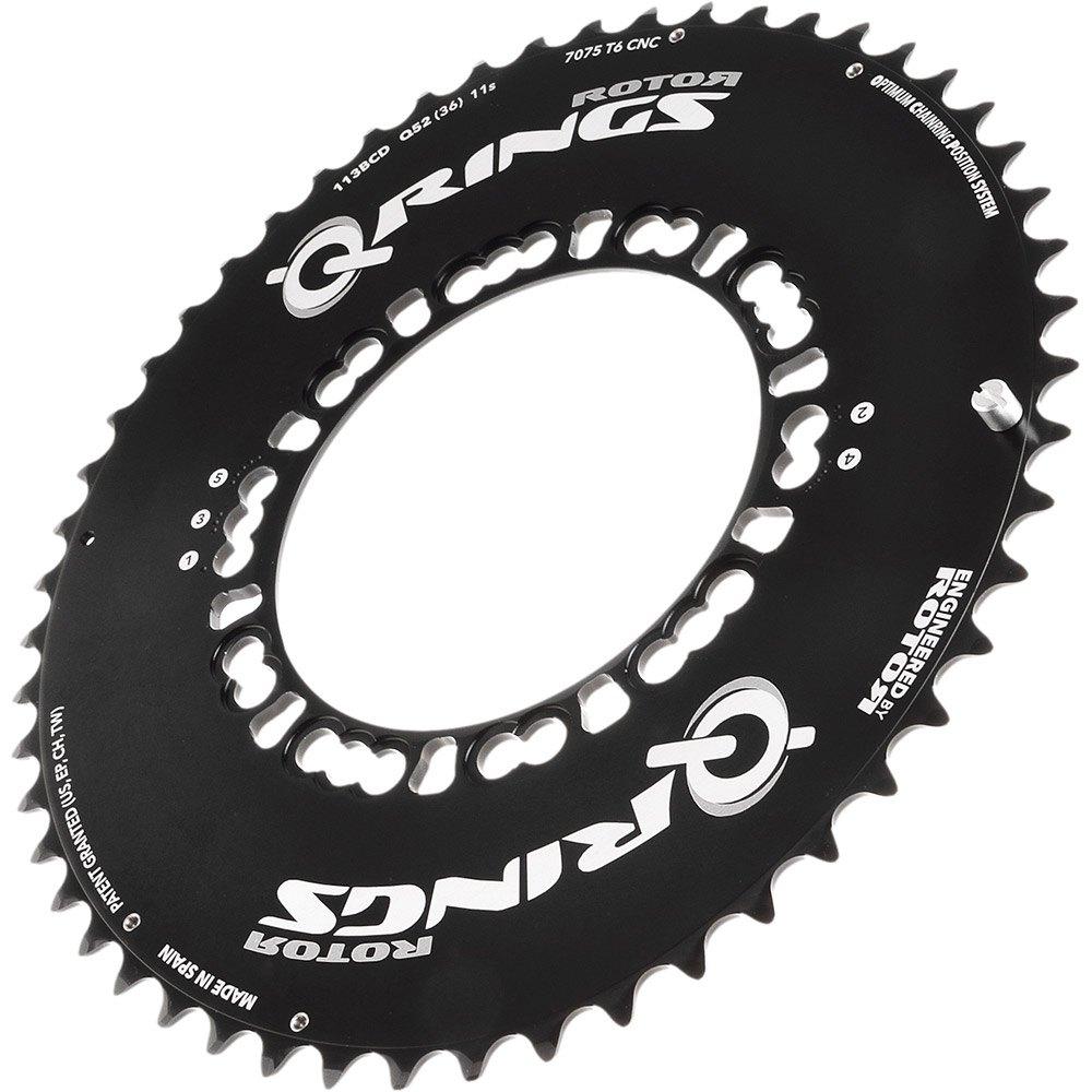 Rotor-Q-Rings-Campagnolo-Bcd135x5-Inner-Black-T10038-Chainrings-Unisex-Black thumbnail 4