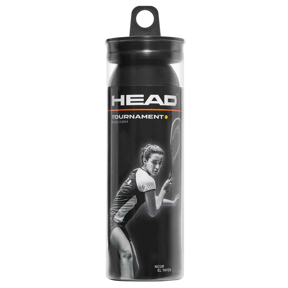 Head Racket Balles Squash Tournament Syd 3 Balls Black