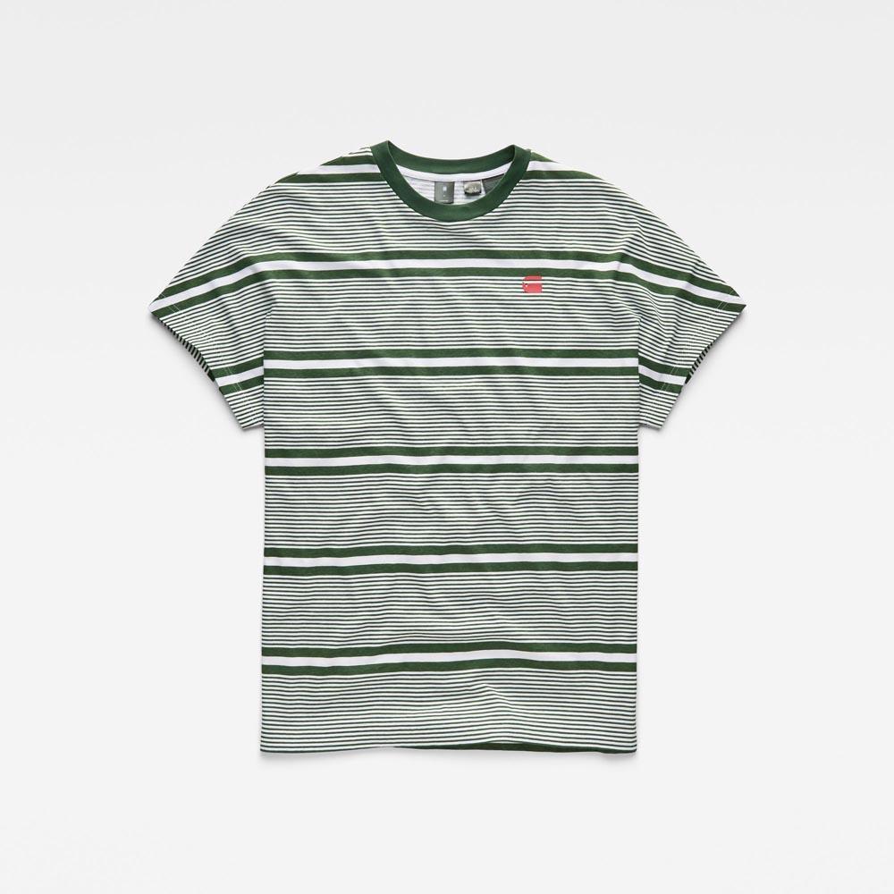 Gstar-Rc-Collyde-Stripe-5-R-T-White-Deep-Nuri-Green-Stripe-Aop-Magliette