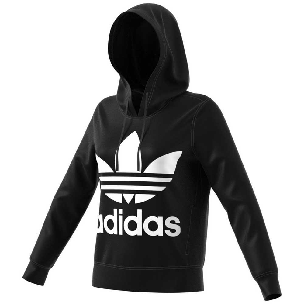 Détails sur Adidas Originals Trefoil Hoodie Noir T96829 Sweatshirts Femme Noir , mode