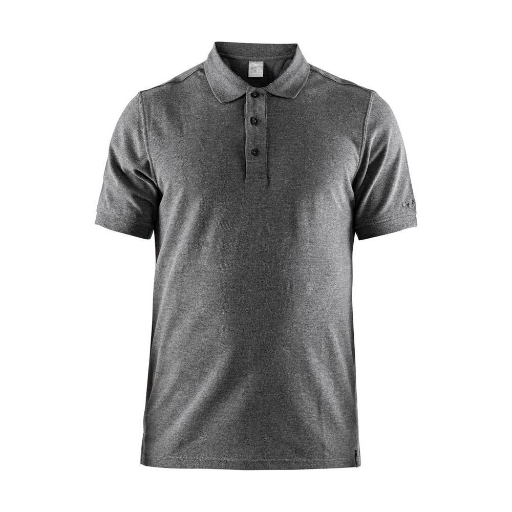 Craft Polo Manche Courte Casual Piqué XXXXL Dark Grey Melange