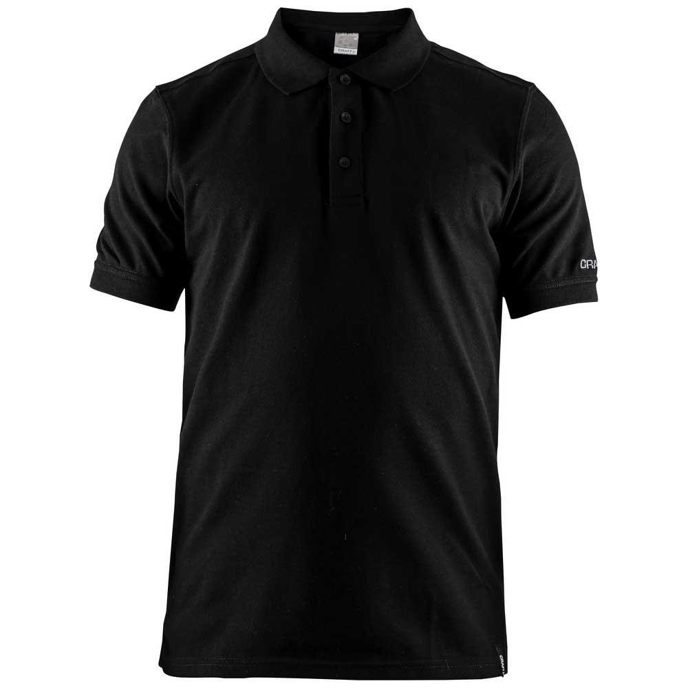 Craft Polo Manche Courte Casual Piqué XL Black