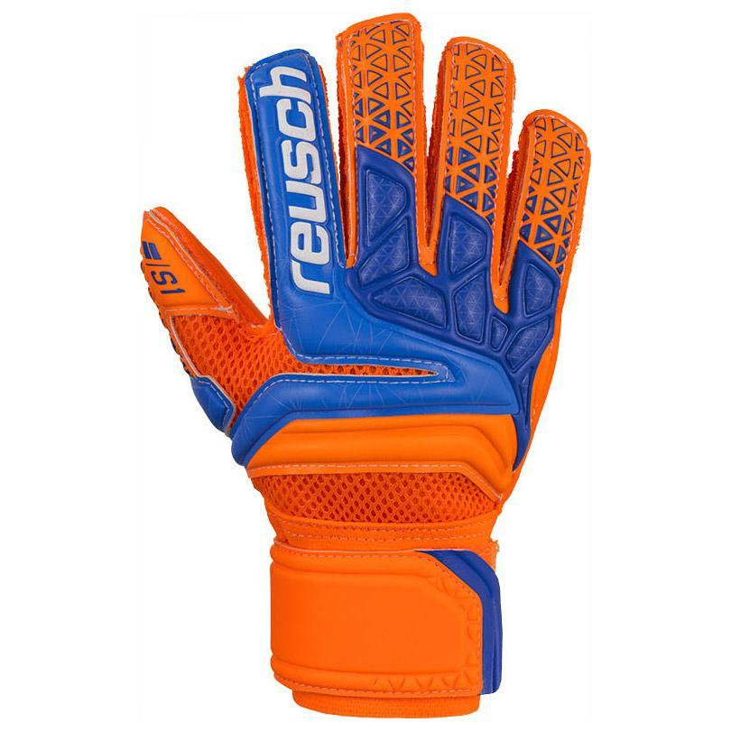 Reusch Prisma Prime S1 Finger Support Junior 5 Shocking Orange / Blue