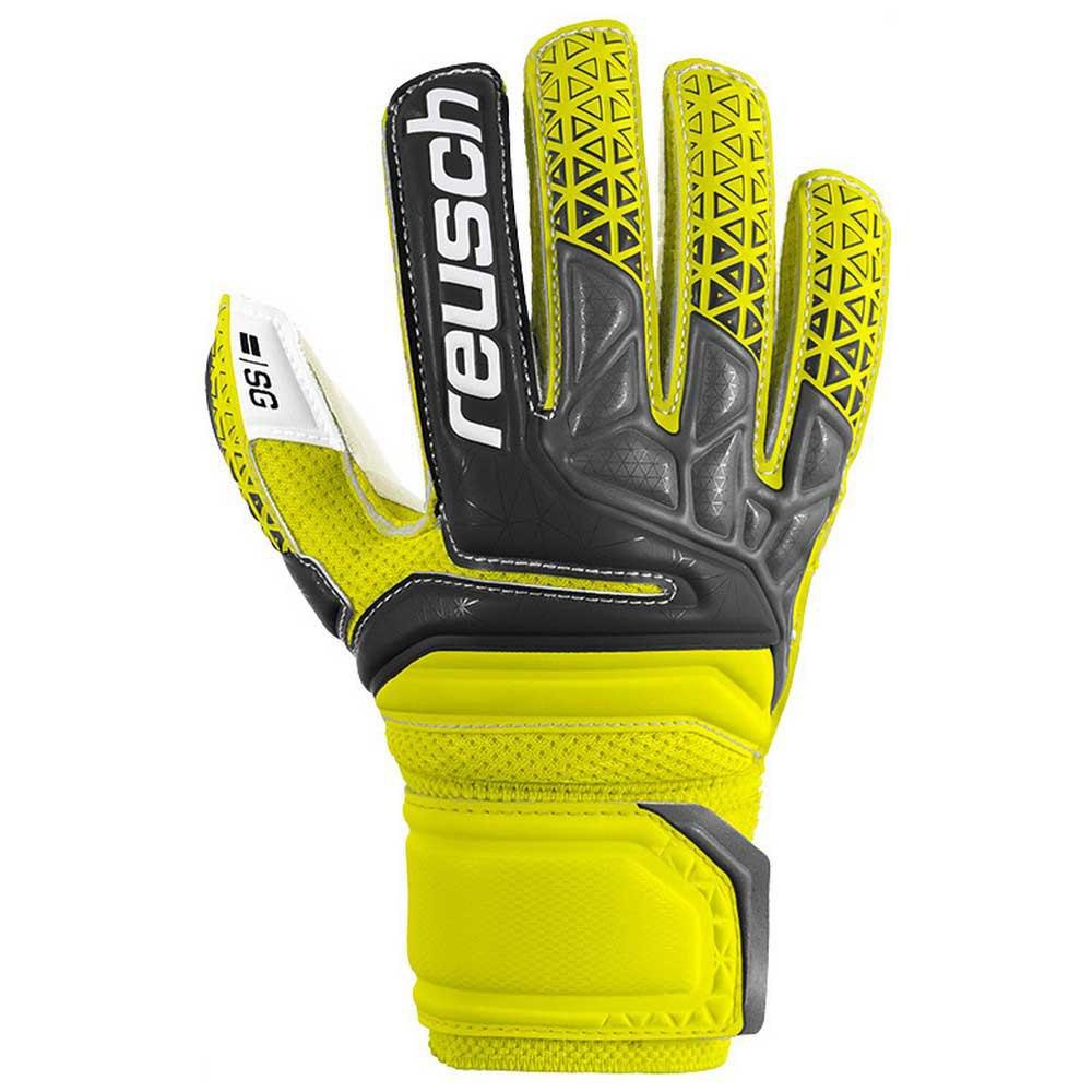 Reusch Prisma Sg Finger Support Junior 4 Safety Yellow / Black