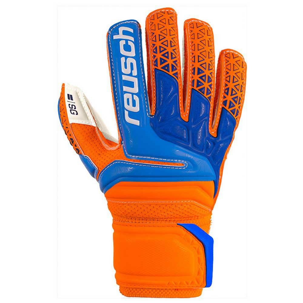 Reusch Prisma Sg Finger Support Junior 4 Shocking Orange / Blue