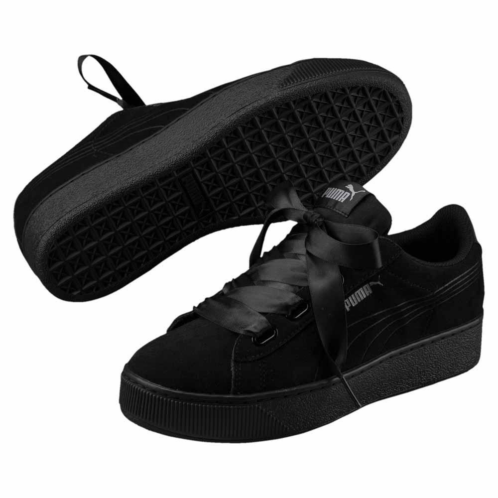 Puma Vikky Platform Platform Platform Ribbon S Puma Black   Puma Black , Sneakers Puma , fashion dd088c