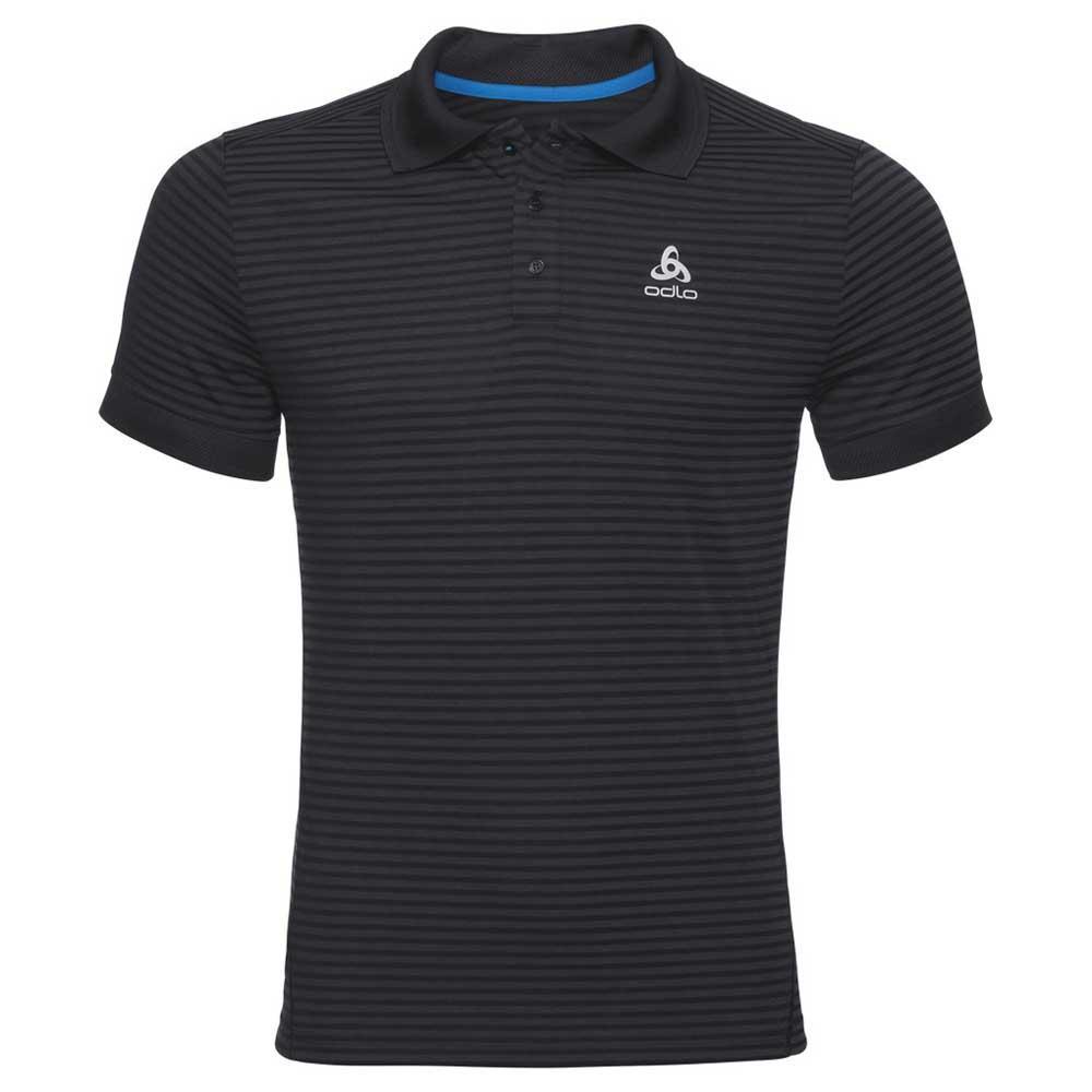Odlo Nikko Dry XL Black / Odlo Steel Grey / Stripes