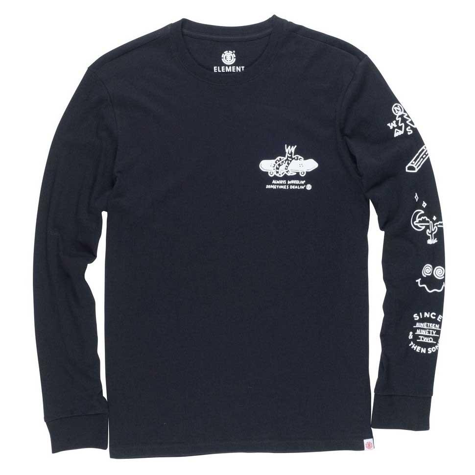 Element Wheelin Noir , T-Shirts Element , sports sports sports , Vêtements Homme a97298