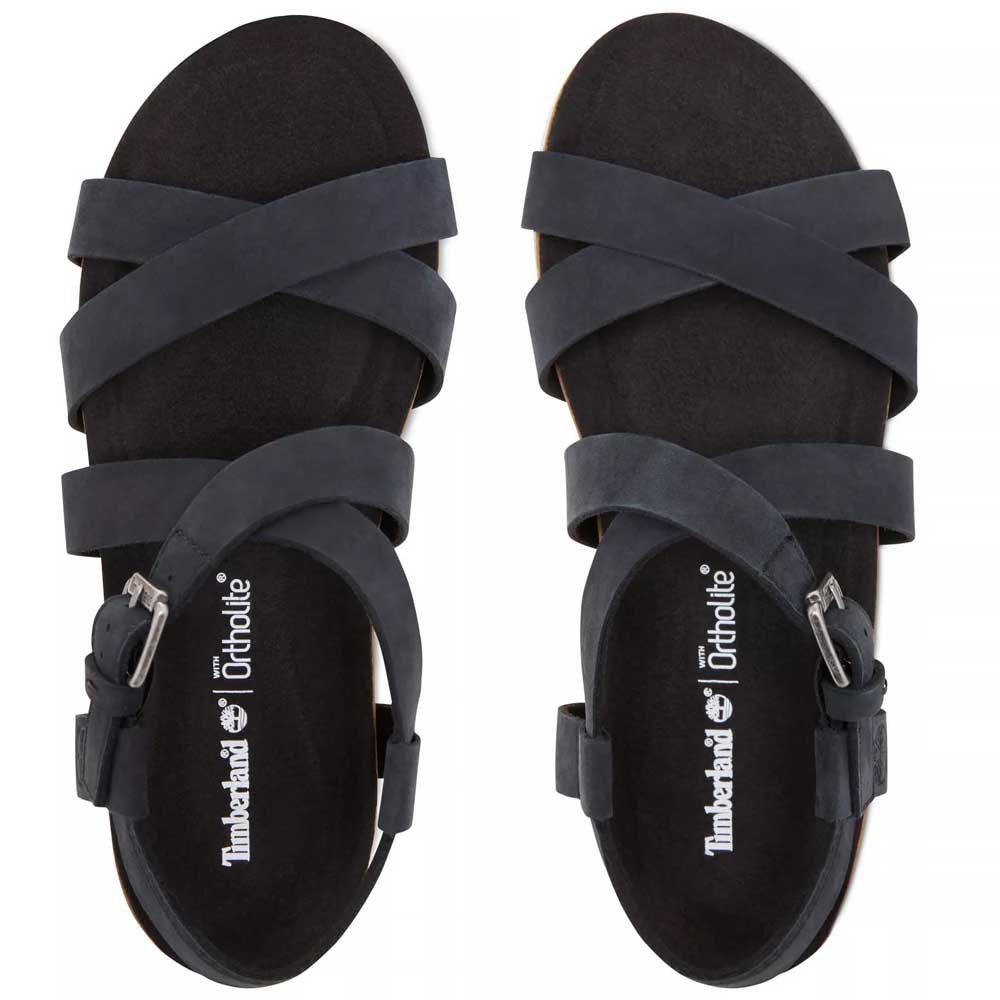 Dettagli su Timberland Malibu Waves Ankle Wide Nero T73065 Sandali Donna Nero , Sandali