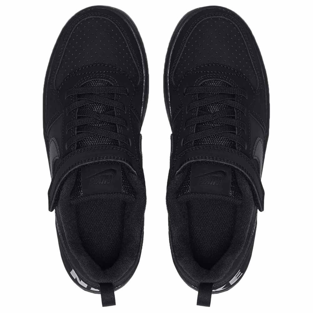 Detalles de Nike Court Borough Low Psv Negro T21745 Zapatillas Negro , Zapatillas Nike