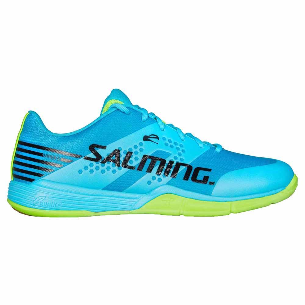 Salming Chaussures Viper 5 EU 44 Blue Atoll / New Fluo Green