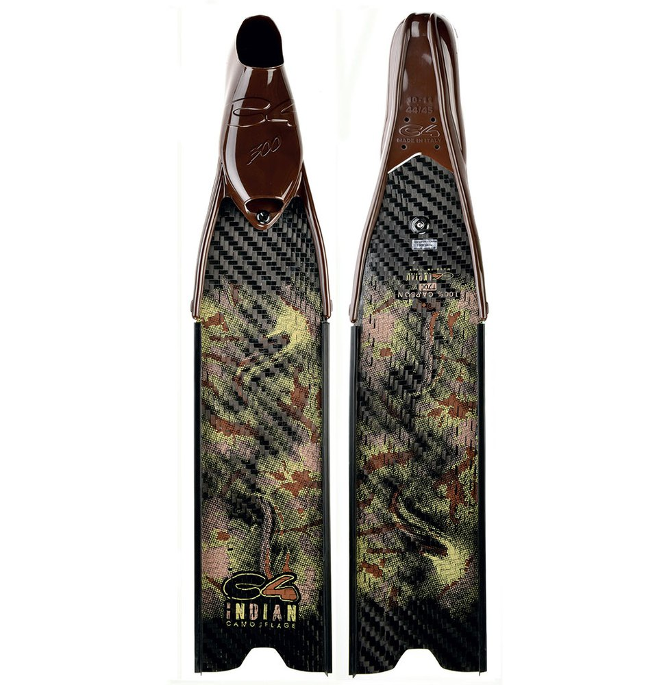 C4 Indian Camo Med Sf Mittel Spear Fishing Flossen EU 36-37 Geschlossene Flossen Indian Camo Med Sf Mittel Spear Fishing Flossen