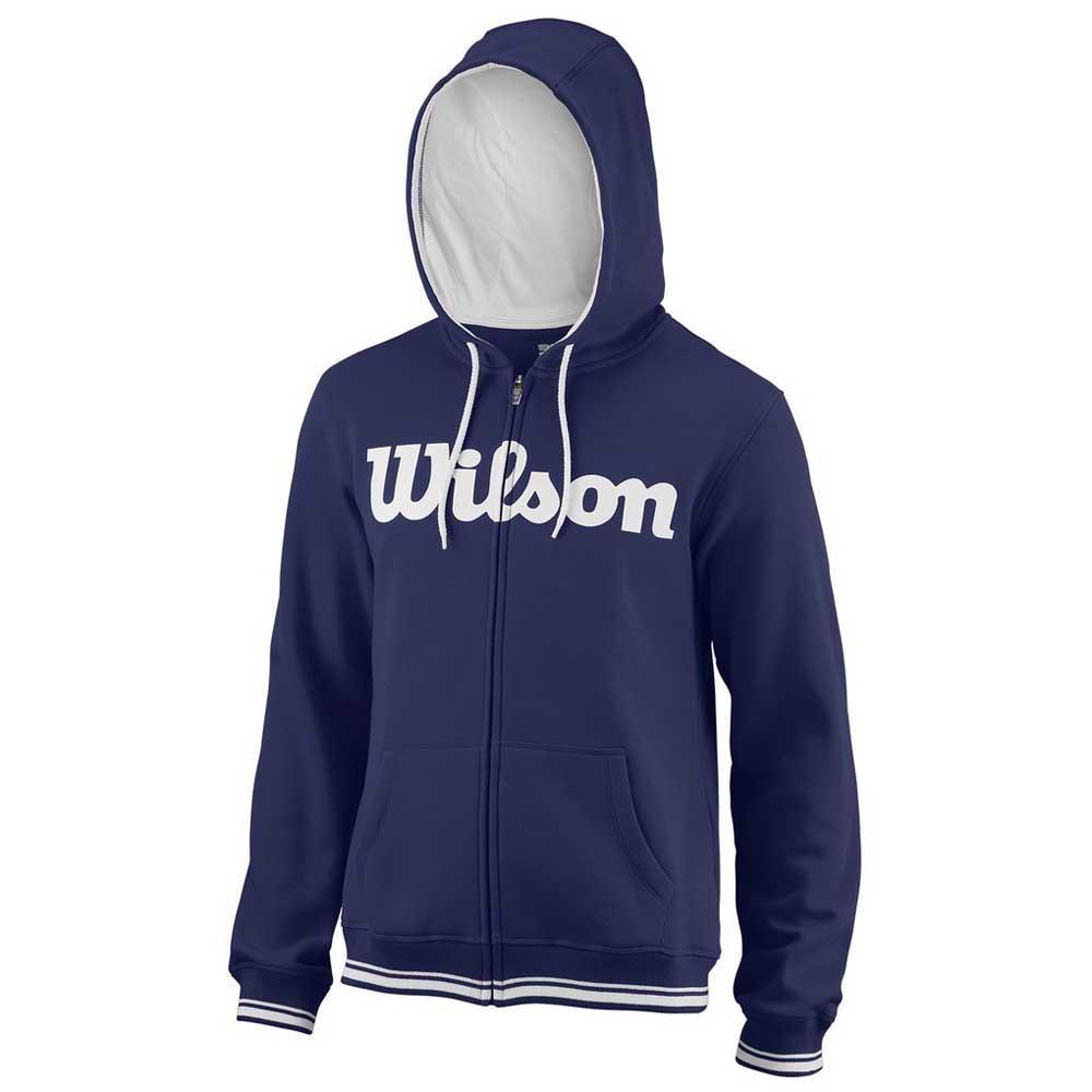 Wilson Team Script Full Zip Hooded XL Blue Depths / White