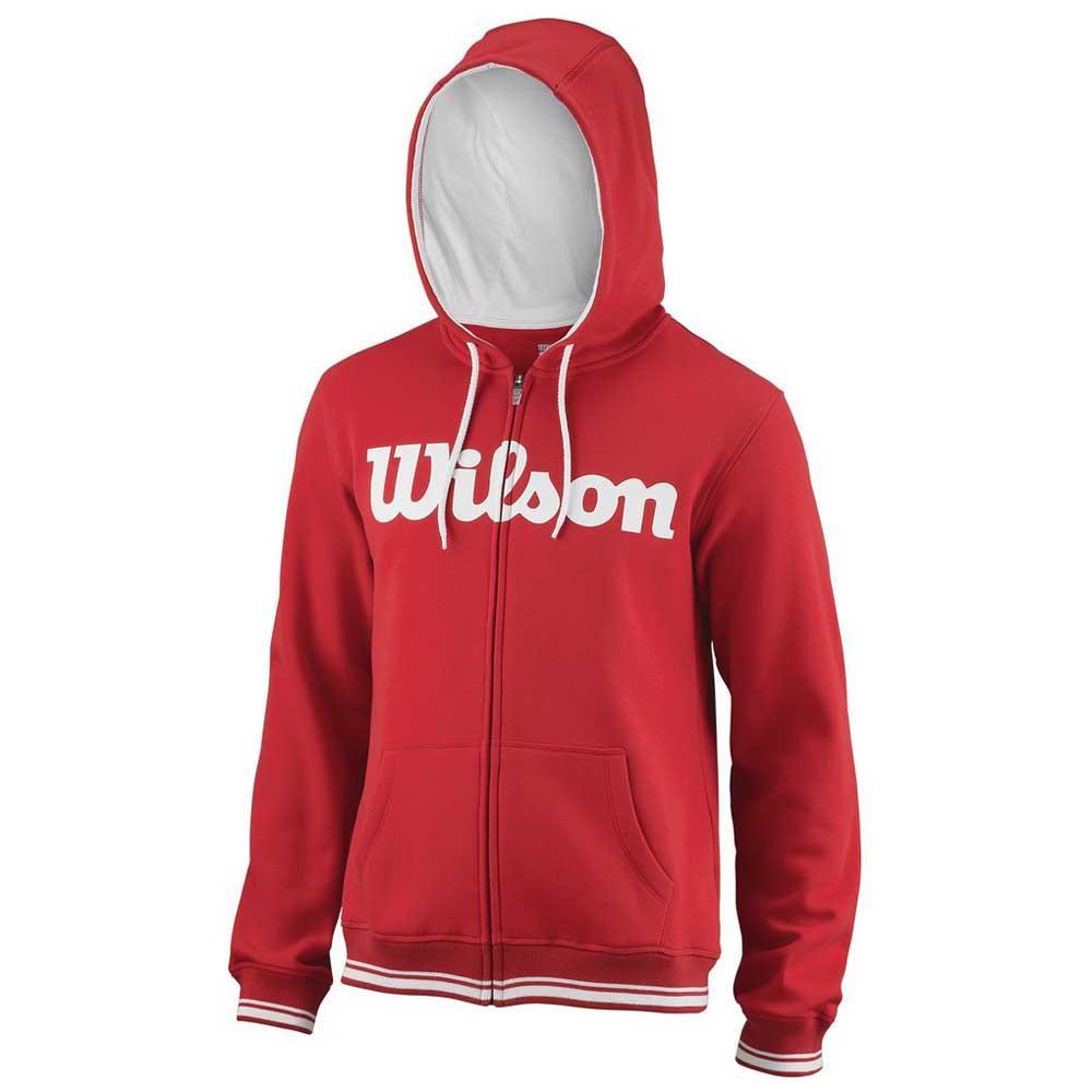 Wilson Team Script Full Zip Hooded S Wilson Red / White