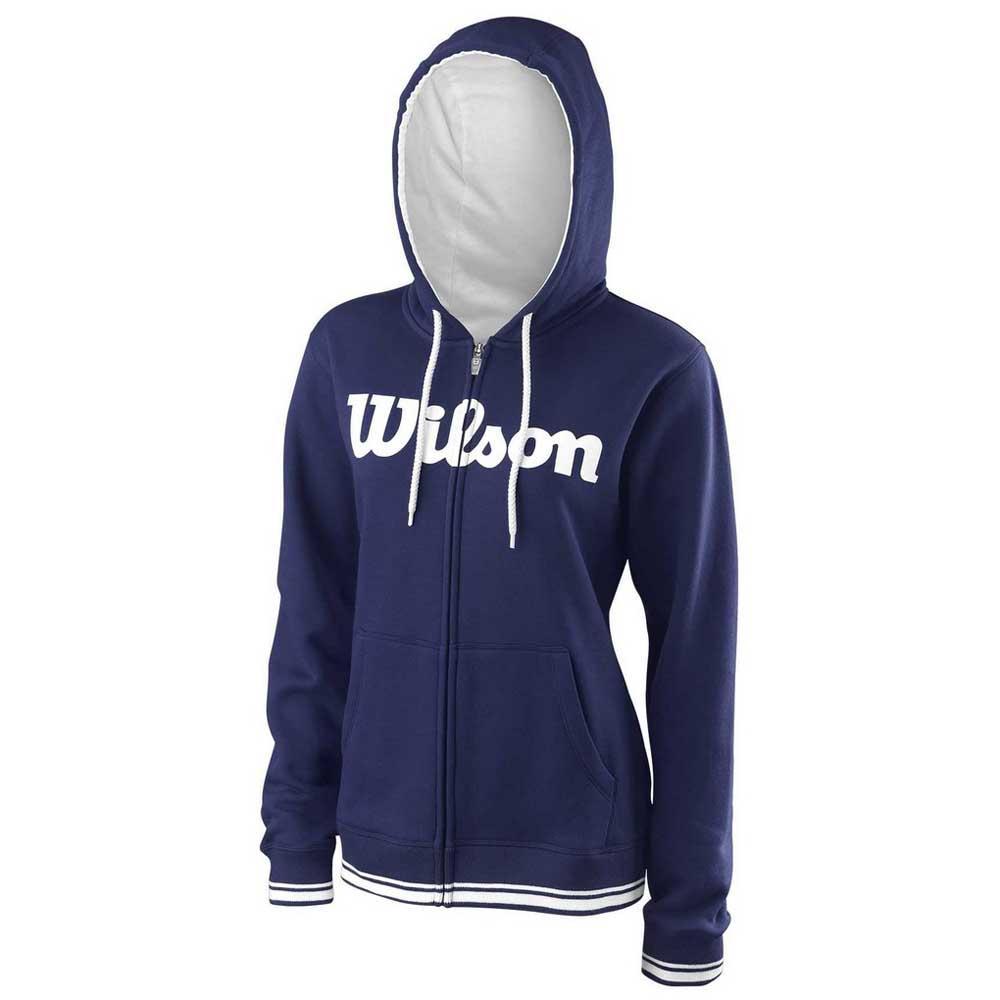 Wilson Team Script Full Zip Hooded L Blue Depths / White
