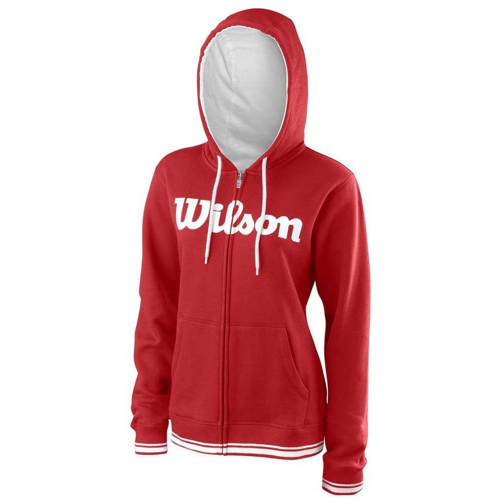 Wilson Team Script Full Zip Hooded L Wilson Red / White