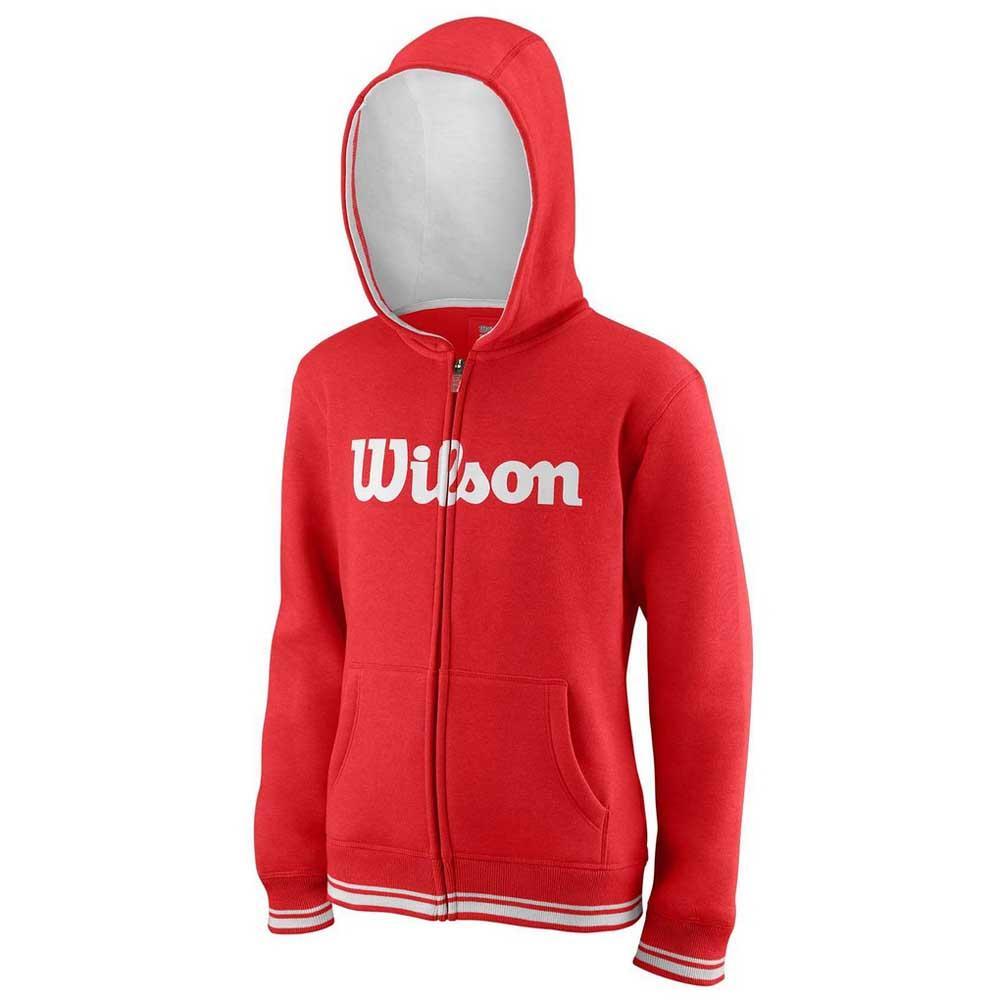 Wilson Team Script Full Zip Hooded XL Wilson Red / White