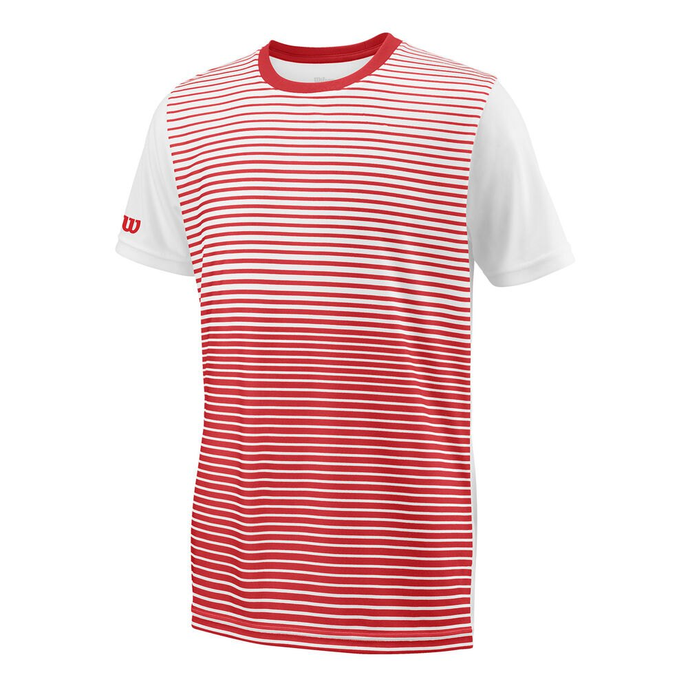 Wilson Team Striped Crew S Wilson Red / White
