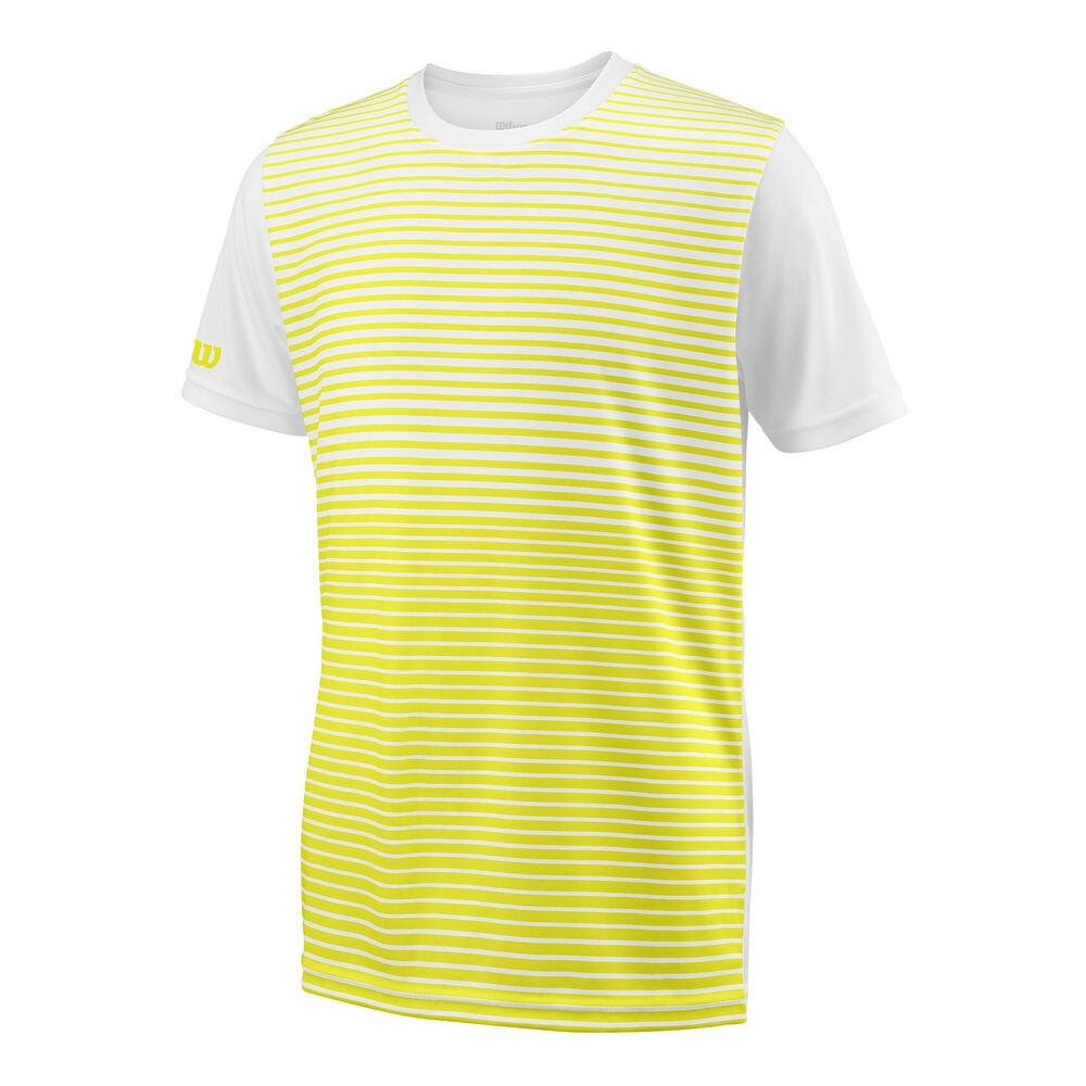 Wilson Team Striped Crew S/s M Safety Yellow / White