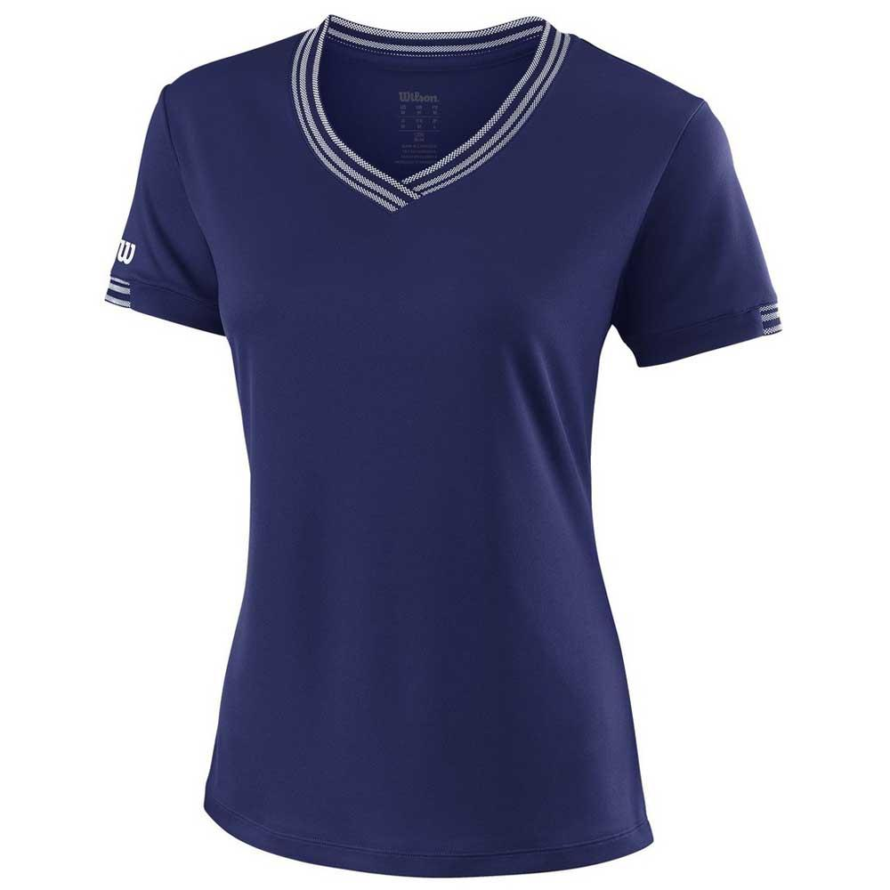 Wilson Team V Neck L Blue Depths
