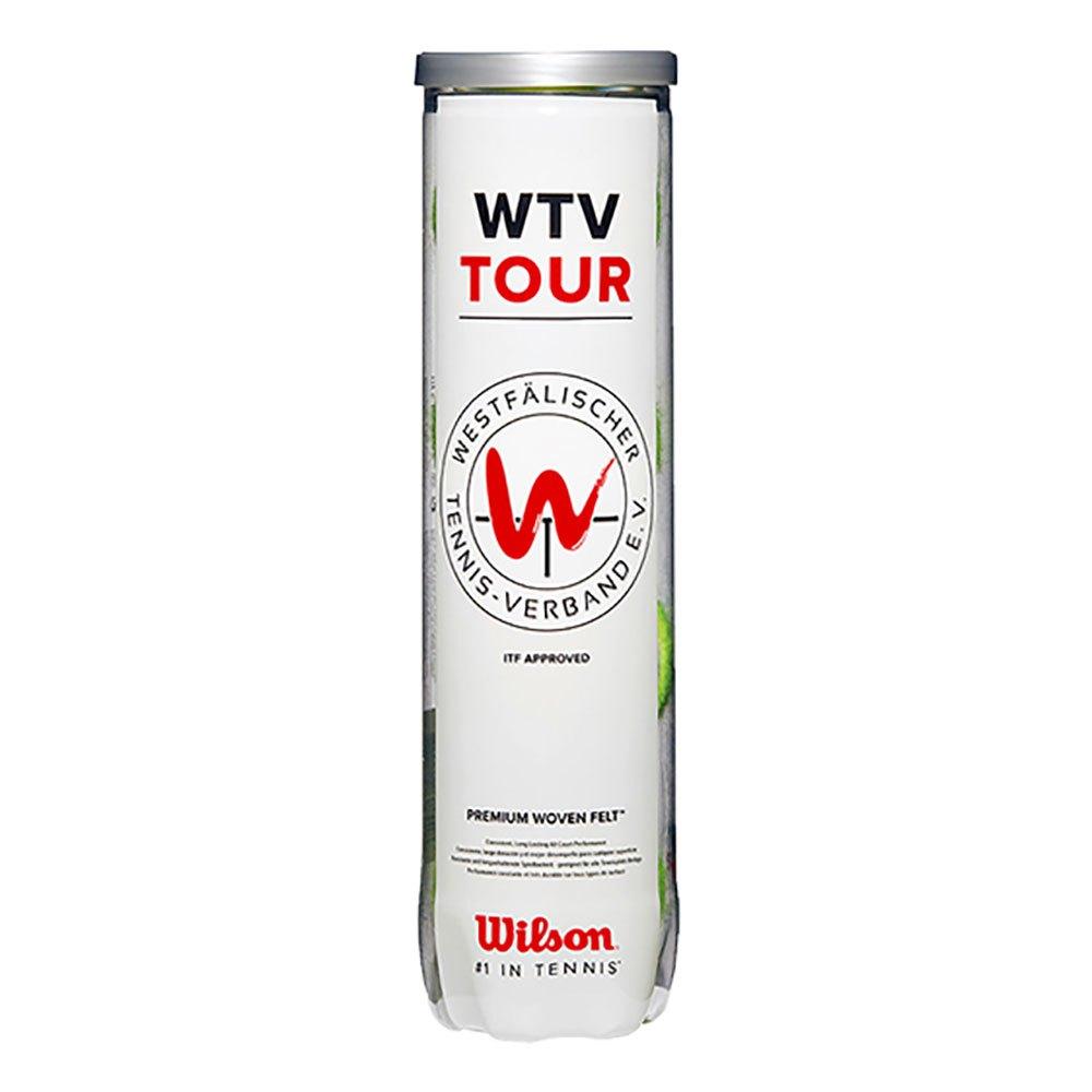 Wilson Wtv Tour All Court Tennis Balls 4 Balls Yellow