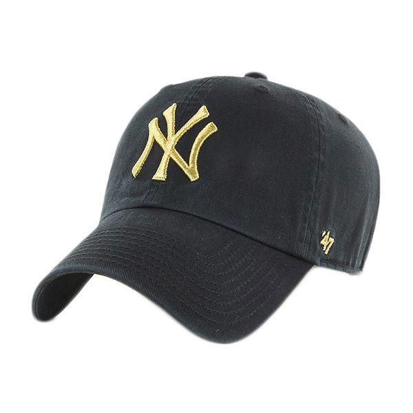 47 New York Yankees Metallic Clean Up One Size Black / Yellow